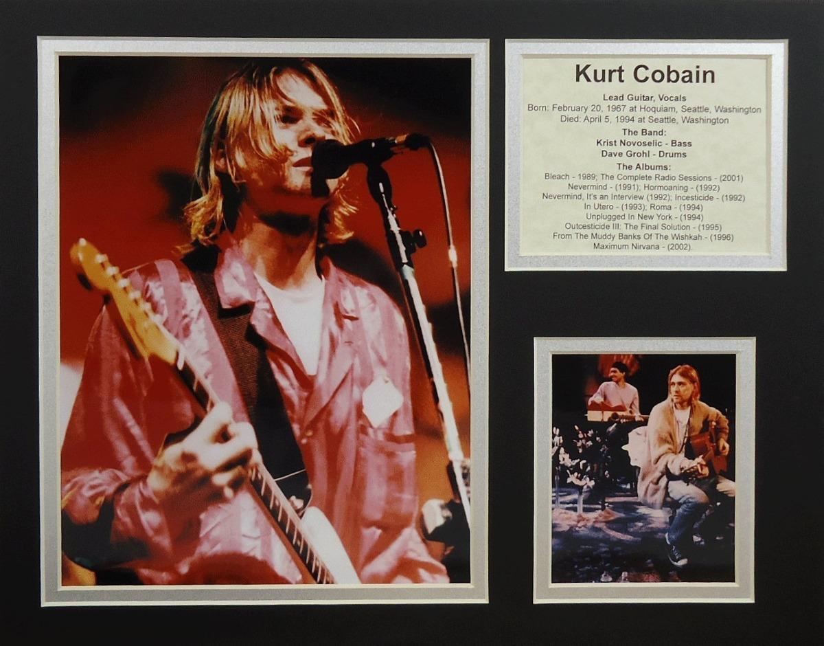 Kurt Cobain 11 X 14 Collage De Fotos Enmarcadas Sin Mar ...