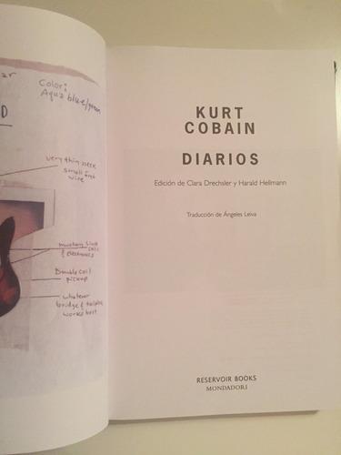 kurt cobain - nirvana - diarios (libro) ed en español