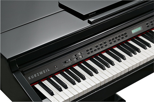 kurzweil home kag100 piano de cola digital de 88 notas, neg
