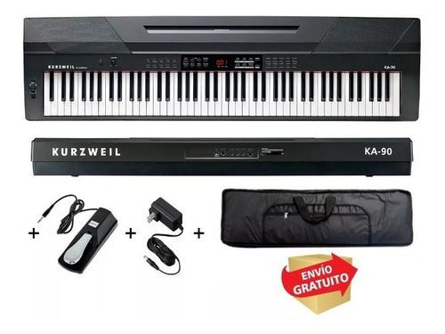 kurzweil piano digital ka90 88 teclas pedal  funda cuotas