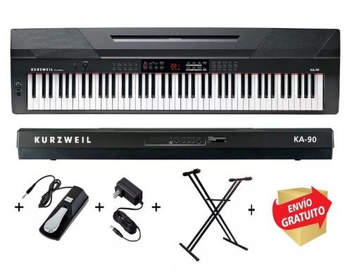 kurzweil piano digital ka90 88 teclas + pedal soporte cuotas