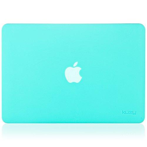 kuzy - estuche rígido de goma para macbook pro más viejo 13.