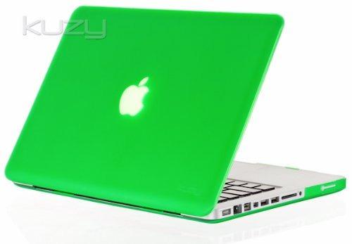 kuzy - green goma 13inch caso de tapa dura see thru para ma