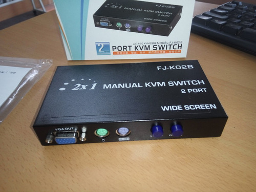 kvm switch para dos cpu a un monitor