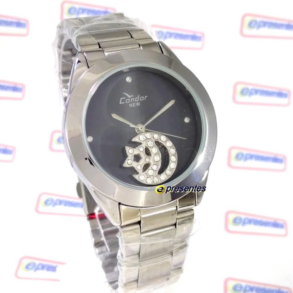78a3454b443 kw25659p relógio condor feminio pingente lua estrela strass. Carregando zoom .