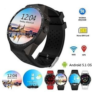 3f4ded6309d Kw88 Smartwatch Android 5.1   Gps   3g   Wifi   Whats   Face - R  629 ...