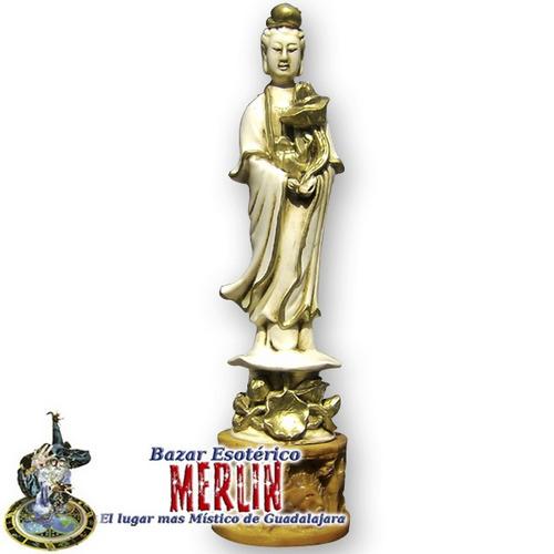 kwan yin en resina - grande - diosa de misericordia y amor