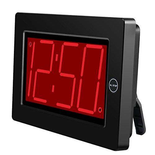aedabfdb5e88 Kwanwa Led Reloj Despertador Digital Reloj De Pared De Compu ...