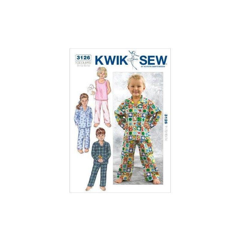 Kwik Sew K3126 Patrón De Costura Para Dormir, Talla T1-t2-t3 ...