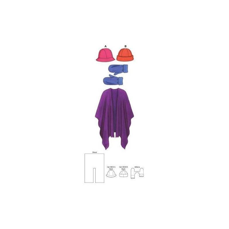 Kwik Sew K3543 Hats Patrón De Costura, Mitones Y Chal - $ 95.467 en ...