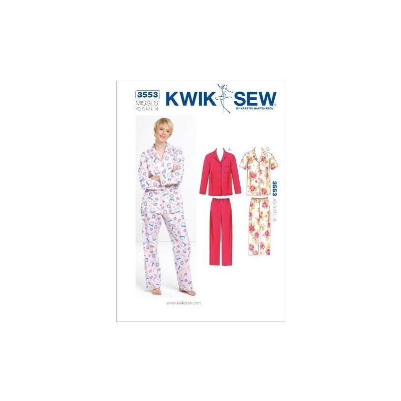 Kwik Sew K3553 Patrón De Costura De Pijama, Talla Xs-s-m-l-x ...