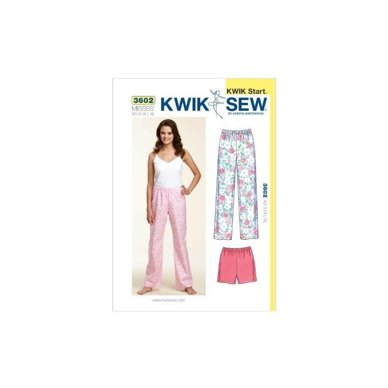 Kwik Sew K3602 Sleep Pantalones Y Pantalones Cortos Patrón D ...