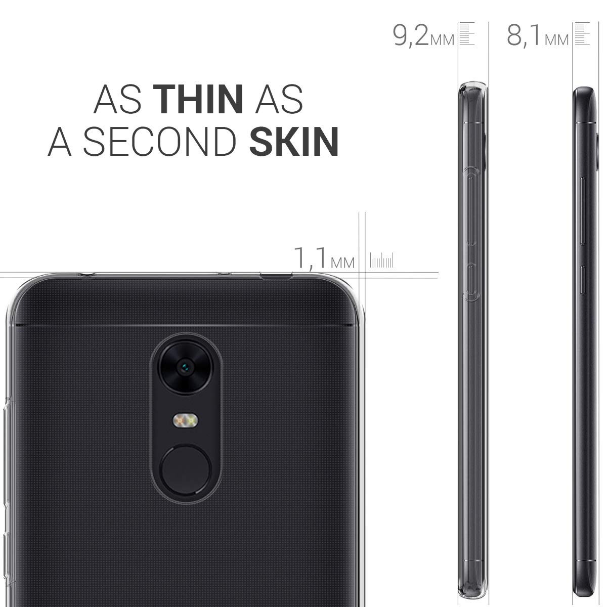 0d34a1d95b9 kwmobile crystal funda para xiaomi redmi 5-plus/redmi note 5. Cargando zoom.