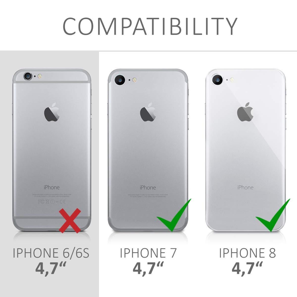 6ee8b5ab1ff kwmobile funda para apple iphone 7/8 - hard plastic anti-scr. Cargando zoom.