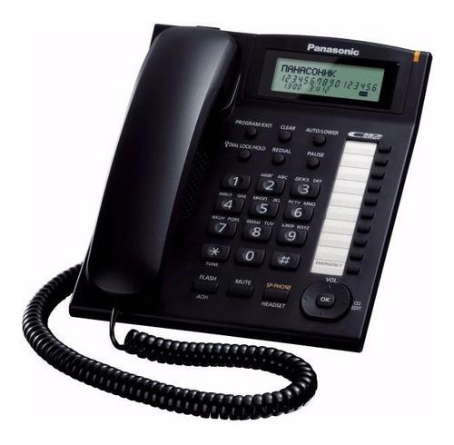 kx-t7716 telefono unilinea con pantalla, caller id, lampara