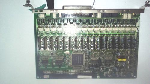 kx-tda0174 placa 16 internos slc16 panasonic kx-tda100/200