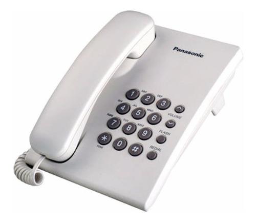 kx-ts500mxw telèfono unilìnea blanco panasonic