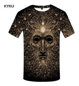 a5dd5153c Kyku Árbol Camiseta Hombres Gris Flor Camiseta Punk Rock Rop