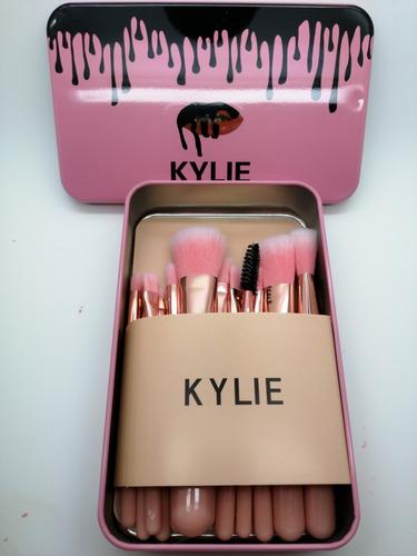 kylie brochas maquillaje set de 12 profesional sombras