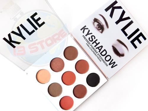 kylie jenner sombras kyshadow paleta bronze 9 colores promo