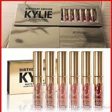 kyllie jenner cosmetics birthday edicion kit x 6 labiales