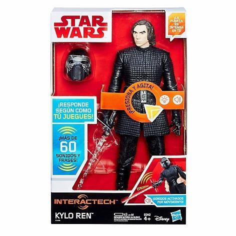 kylo ren star wars muñeco hasbro sonido y frases. nuevo!