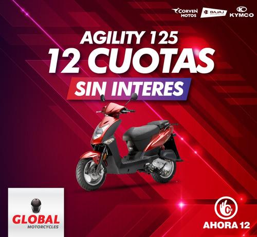 kymco agility 125 ahora en global  12 cuotas sin interés!