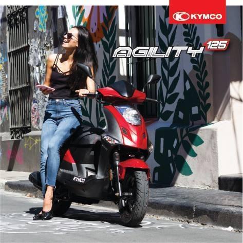 kymco agility 125 modelo año 2019 - okm