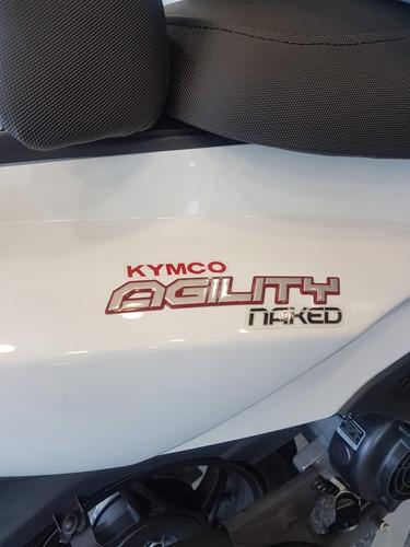 kymco agility 125 naked 0km  lidermoto 12 cuot. s/ interés