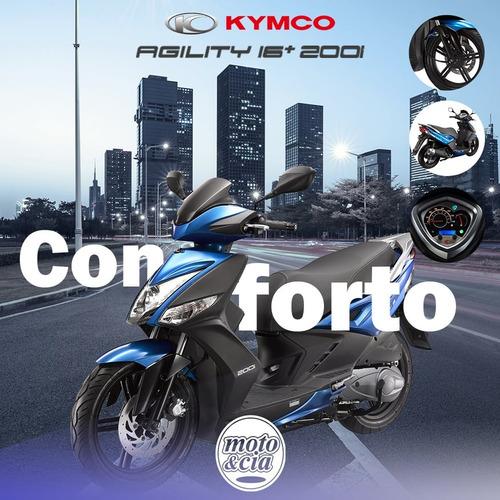 kymco agility 16+ 200 0km 2020 lançamento - moto & cia