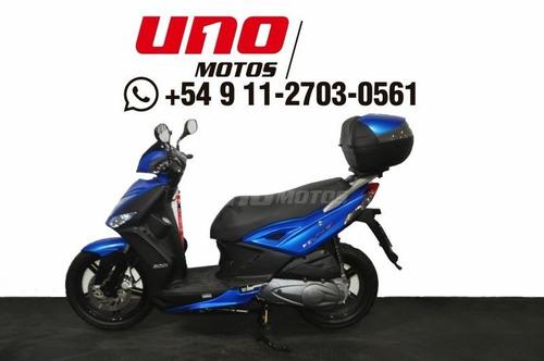 kymco agility 200i +16 usada 2019 con 1100 km azul