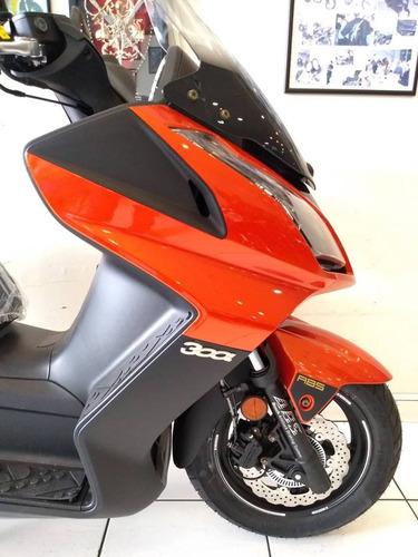 kymco downtown 300i 0km 2021 laranja - moto & cia