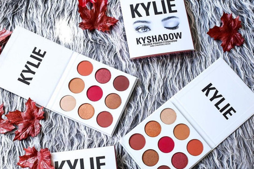 kyshadow, sombras kylie bronze palette / burdundy palette
