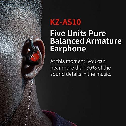 kz as10 5ba auricular in ear estereo resolucion cable bwn4