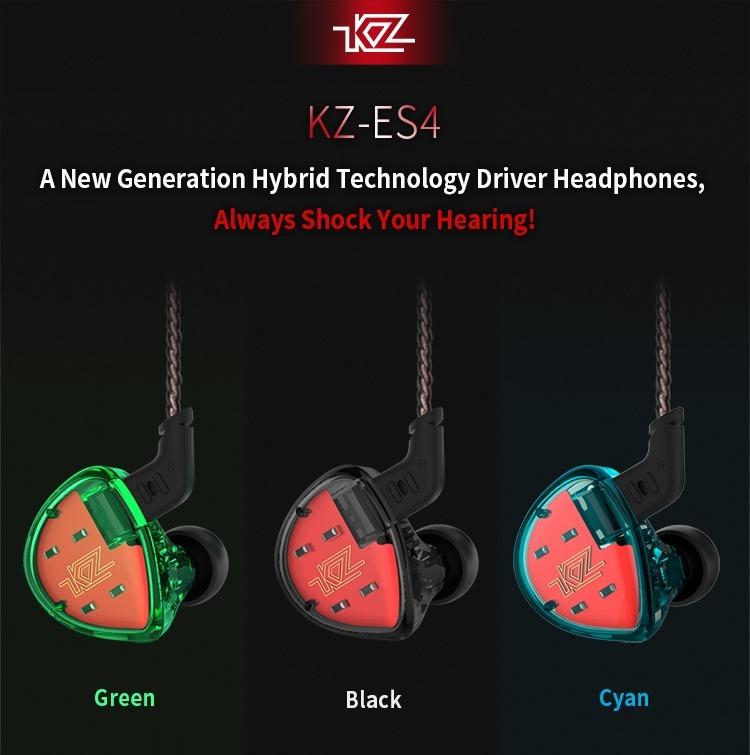 Kz Es4 Audífonos De Monitor 4 Drivers Y Estuche Msi