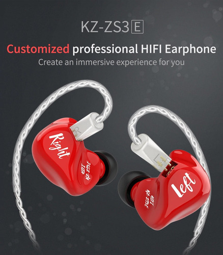 kz zs3e monitor monitor super bass sin micrófono dinámicos