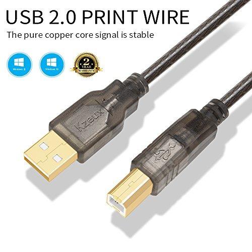 kzeux cable de impresora 32 pies 328 pies usb 20 macho a a m