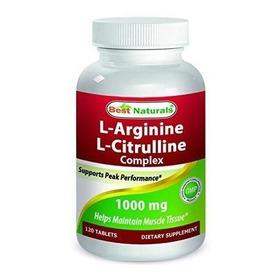 L- Arginina L-citrulina 1000 Mg Best Naturals 120 Tabletas
