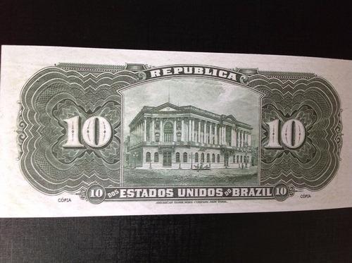 l-1091 1 belíssima cédula - r-104s 10 mil réis  - 1907