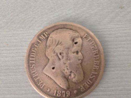 l-1422 - magnifica moeda petrus de 40 réis - 1879 - imperial