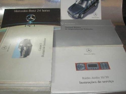 l 260 / 05  manual proprietário mercedes benz classe s 1998