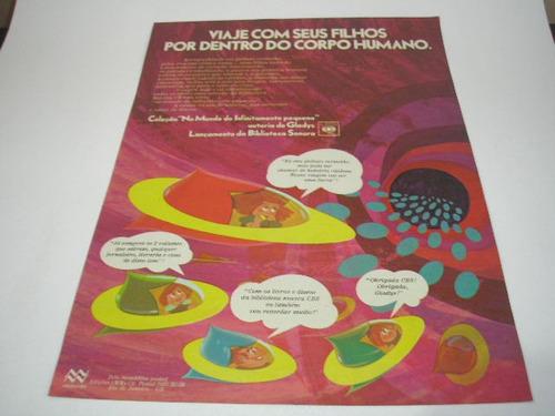 l- 290/ gbs100 propaganda antiga  discos infantil cbs