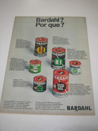 l 290/ genr10 propaganda antiga óleo bardahl