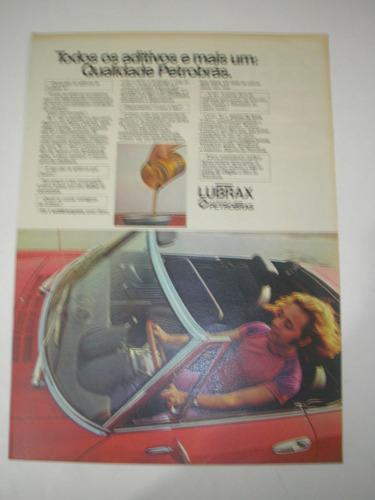 l  290/ gfdm100 propaganda antiga petrobrás óleo lubrax