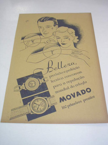 l - 290/ gfra60 propaganda antiga relógio movado
