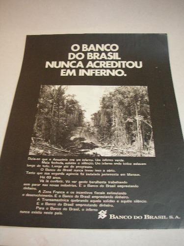 l  290/ gkf110  propaganda antiga banco do brasil