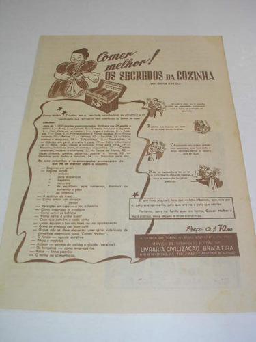 l  290/ gmm20 propaganda antiga livraria brasileira
