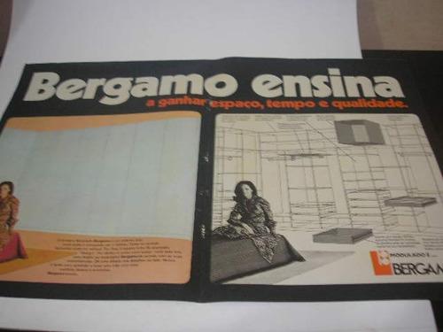 l -  290/ gpkr60 propaganda antiga indústria móveis  bergamo