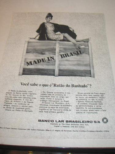 l - 290/ grr140  propaganda antiga banco lar brasileiro