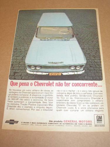 l  290/ grr150 propaganda antiga chevrolet veraneio 1968 # 2